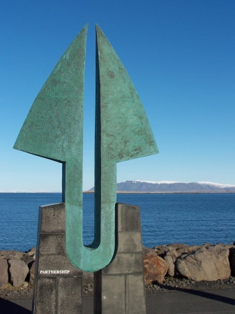 'Partnership' sculpture, Reykjavik, Iceland