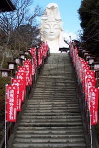 Approaching the goddess at Ofuna