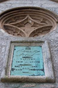 Plaque commemorating Queen Victoria's visit to St. Michael's Mount, Cornwall