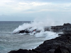 Kilauea's lava meets the Pacific