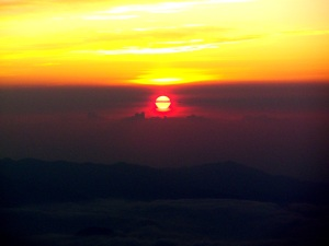 sunrise from the top of Japan