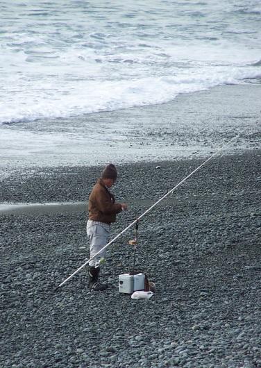 Fisherman, near Kamakura, Japan