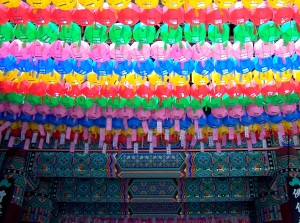 lanterns for Buddha's birthday at Jogyesa Temple, Seoul