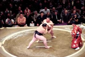 Sumo smackdown, Tokyo, Japan