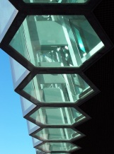 Hexagons in the facade of Harpa Concert Hall, Reykjavik, Iceland