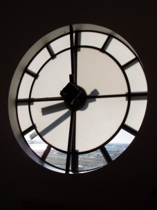 Reykjavik through a clock tower
