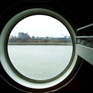 Last glimpse of Holland through the ferry porthole
