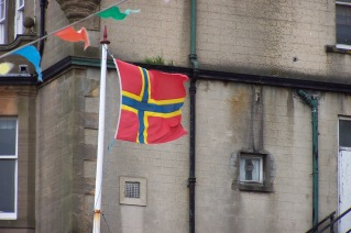 I want to diagram a timeline of the events that explains why the Orcadian flag looks so Norwegian.