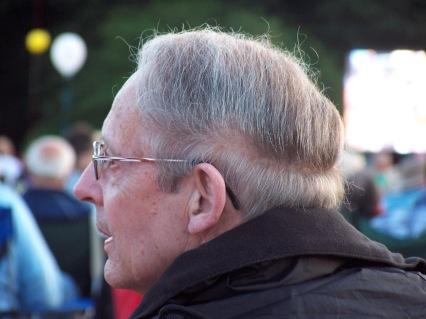 A bald spot, hidden beneath the boldest comb-over I've ever seen.