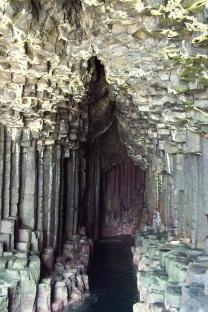 Hexagonal lava pillars, Fingal's Cave, Isle of Staffa, Scotland