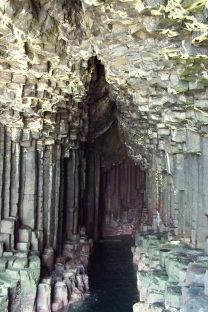 Hexagonal lava pillars, Fingal's Cave, Isle of Staffa, Scotland
