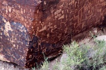 Petroglyphs on Newspaper Rock, Painted Desert, Arizona