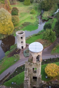 High above the grounds of Blarney Castle, Ireland