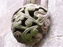 Carved stone ornament, Keswick, Lake District, England