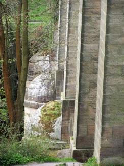 Stone pillars of Pontcysyllte Aqueduct, Northern Wales