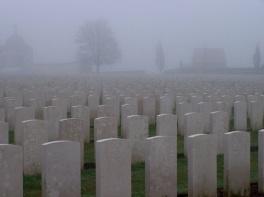 Headstones, Tyne Cot Cemetery, near Ypres, Belgium