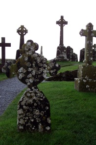 Serene stillness in an Irish churchyard.
