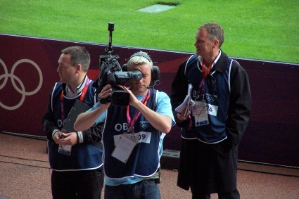 Covering 1st round women's soccer at the 2012 London Olympics, Hampden Park, Glasgow Scotland