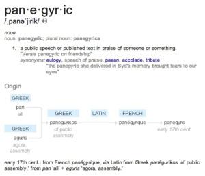 panegyric def