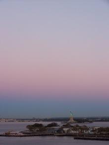 Faint blush of dawn, New York Harbor, NY