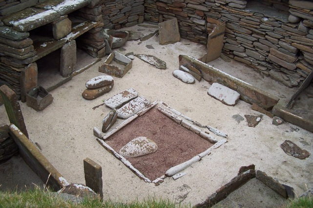 Excavated remains of a dwelling