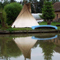 Who'd expect to see a teepee in England?
