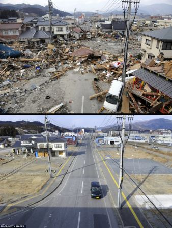 Ofunato, Iwate. Image copyright AFP/Getty Images